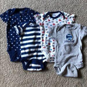 🔸KIDS 5/$20🔸4-pk Baby boy onesies